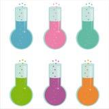 Ensemble de 6 graphismes de vaccins Illustration Stock