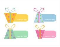 Ensemble de 6 trames colorées de cadeaux Illustration Stock