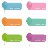 ensemble de 6 trames de ballons Illustration Libre de Droits