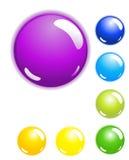 Ensemble de 7 boutons brillants de Web photographie stock