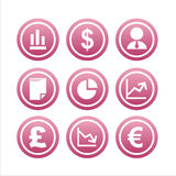 Ensemble de 9 signes de finances Photographie stock libre de droits