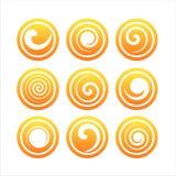 Ensemble de 9 signes de remous illustration de vecteur