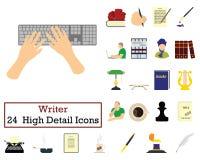 Ensemble de 24 auteurs Icons illustration libre de droits