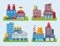 Ensemble de bâtiment industriel Photo stock