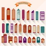 ensemble 0115_2 de bâtiments Photo stock