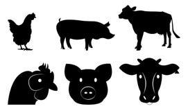 Ensemble de bétail Images stock