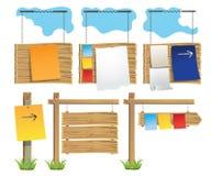 Ensemble de babillards en bois Image stock