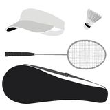 Ensemble de badminton Photo stock