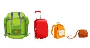 Ensemble de bagage pour le voyage illustration de vecteur