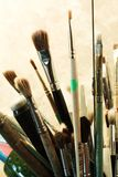 Ensemble de balais pour la peinture Image libre de droits