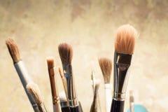 Ensemble de balais pour la peinture Images libres de droits