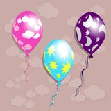 Ensemble de ballons Photo stock