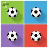 Ensemble de ballons de football de pixel illustration stock