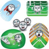 Ensemble de ballons de football de la vie illustration stock