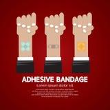 Ensemble de bandage adhésif Image stock