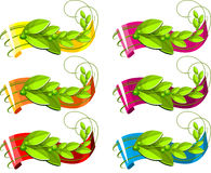 Ensemble de bande avec les éléments de la végétation Image libre de droits