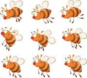 Ensemble de bande dessinée d'abeilles illustration de vecteur