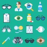 Ensemble de bande dessinée d'ophtalmologiste Photographie stock libre de droits