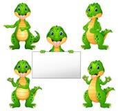 Ensemble de bande dessinée de crocodile illustration libre de droits
