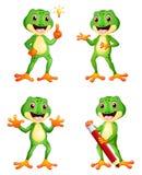 Ensemble de bande dessinée de grenouille illustration libre de droits