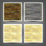 Ensemble de bandes peintes sans couture d'or illustration de vecteur