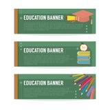 Ensemble de bannière d'éducation Image libre de droits