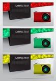 Ensemble de bannière d'appareils-photo Photographie stock