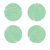 Ensemble de bannière de cercle dans le style vert de peinture de brosse Images libres de droits