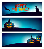 Ensemble de bannière de Halloween illustration libre de droits