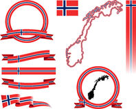 Ensemble de bannière de la Norvège Images libres de droits