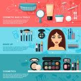 Ensemble de bannière de maquillage illustration de vecteur