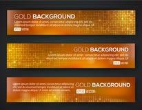 Ensemble de bannière de vente d'or Images stock