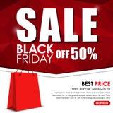 Ensemble de bannière de Web à vendre sur Black Friday Images libres de droits