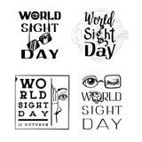 Ensemble de bannière de jour de vue du monde, style simple illustration de vecteur
