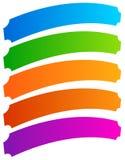 Ensemble de bannière simple, formes de bouton Bannières colorées, boutons i illustration stock