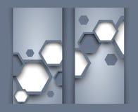 Ensemble de bannières avec des hexagones illustration libre de droits