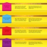 Ensemble de bannières colorées. Photographie stock libre de droits