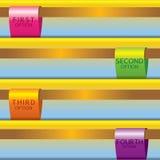 Ensemble de bannières colorées. Images libres de droits