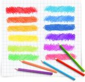 Ensemble de bannières colorées de croquis de griffonnage Photographie stock libre de droits