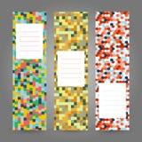 Ensemble de bannières colorées verticales Ornement géométrique abstrait V Photos stock