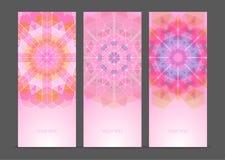 Ensemble de bannières créatives géométriques Photographie stock