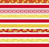 Ensemble de bannières décoratives chinoises. Image stock