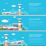 Ensemble de bannières d'aéroport Image libre de droits