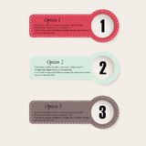 Ensemble de bannières d'options d'infographics de colourfull Photos libres de droits
