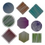 Ensemble de bannières dans le style de peinture de brosse Non 2 Images stock