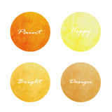 Ensemble de bannières de cercle Illustration de vecteur jaune orange brun illustration stock