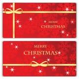 Ensemble de bannières de Noël et de nouvelle année Photographie stock libre de droits