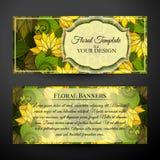 Ensemble de bannières horizontales, élément de web design Image libre de droits