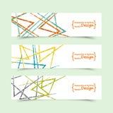Ensemble de bannières horizontales avec le motif abstrait Images libres de droits