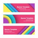 Ensemble de bannières horizontales colorées modernes de vecteur Photographie stock libre de droits